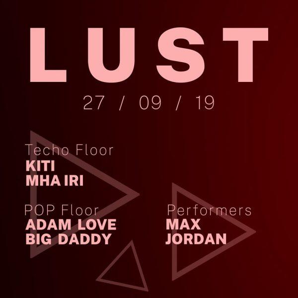 LUST Line-up 27 September 2019